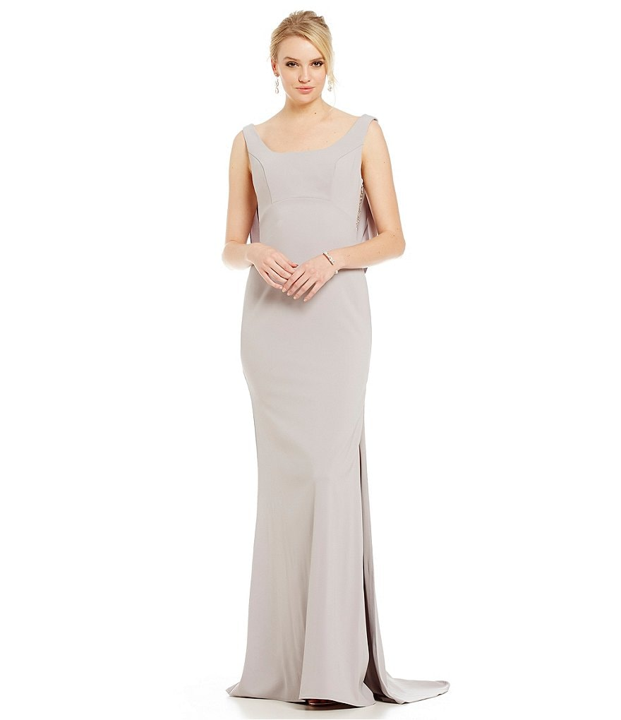 Terani Couture Illusion Beaded Back Gown