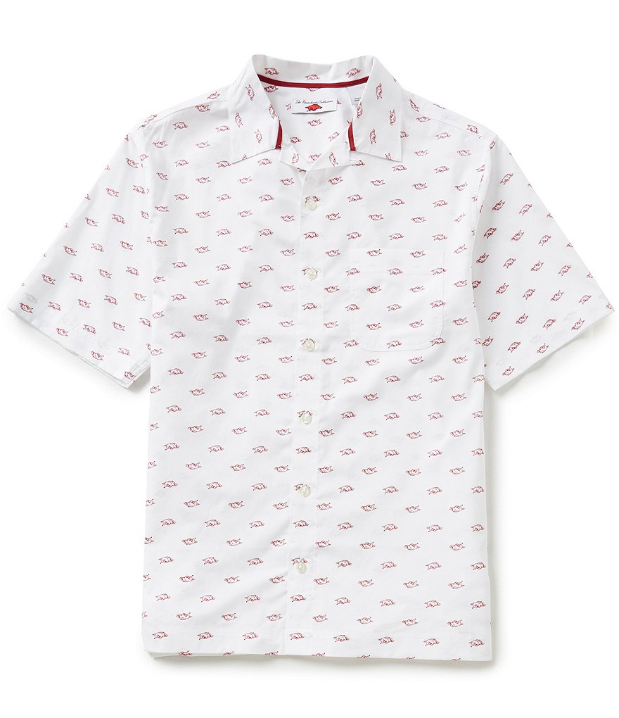 The Razorback Collection Line Camp University of Arkansas Woven Shirt
