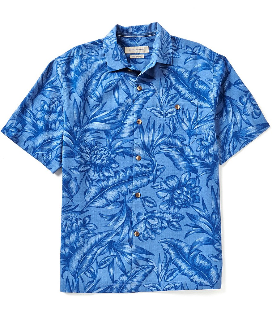 Tommy Bahama Short-Sleeve Cayo Palms Print Woven Shirt