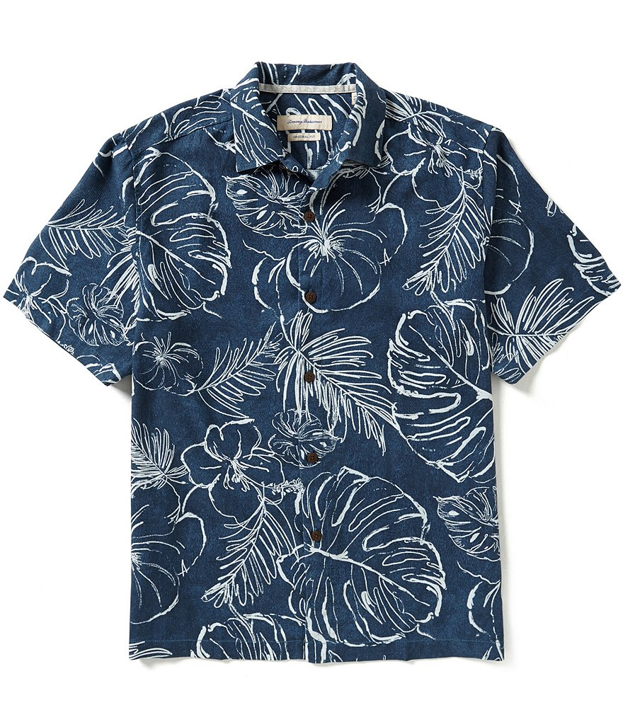 Tommy Bahama Short-Sleeve Fair Weather Fronds Woven Shirt