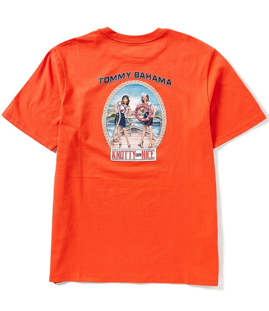 Tommy Bahama Short-Sleeve Knotty Or Nice Christmas Graphic Tee