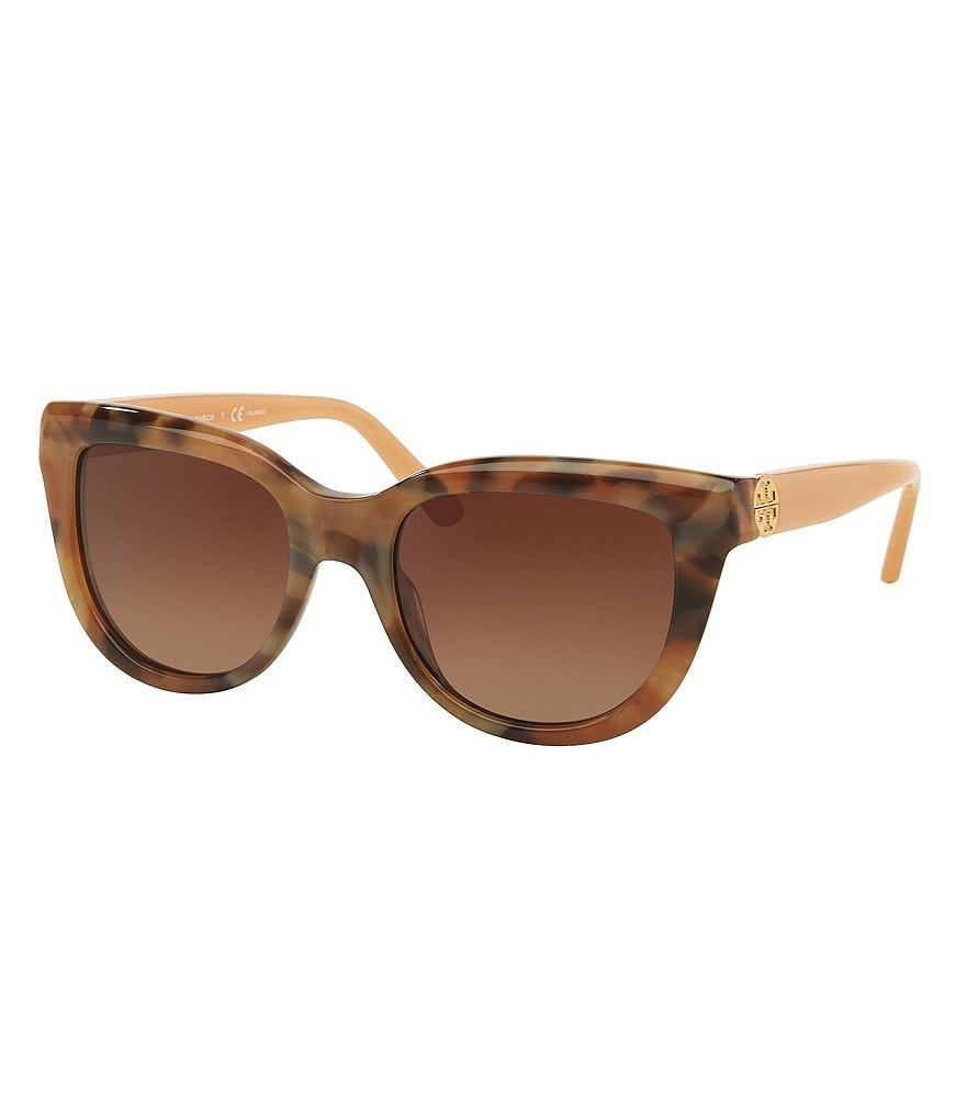 Tory Burch Polarized Oversized Cat-Eye Sunglasses