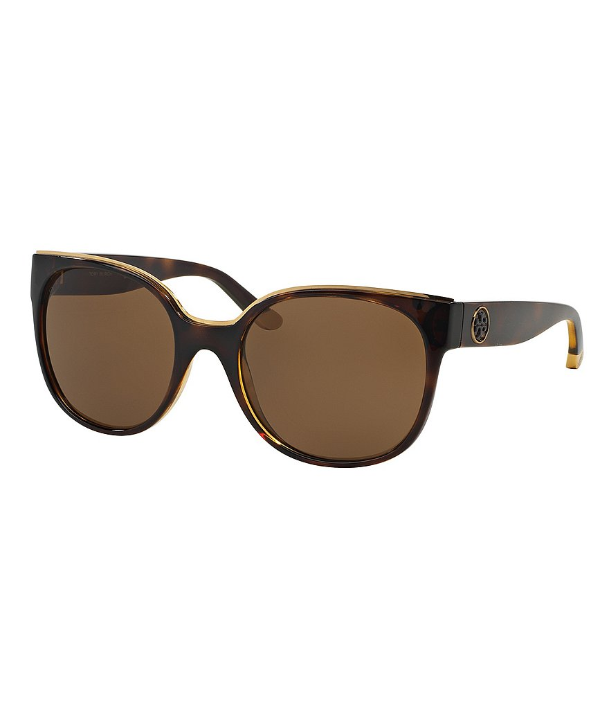 Tory Burch Square Metal-Brow Sunglasses