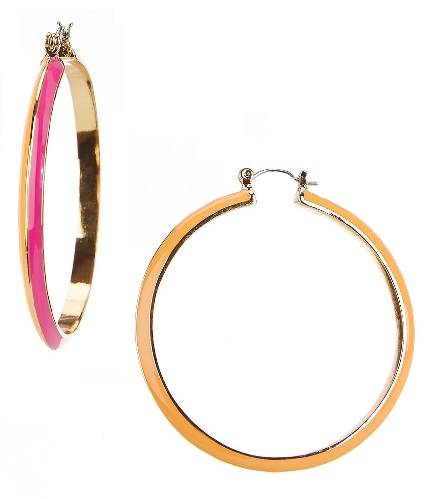 Trina Turk Mod Moments Knife-Edge Hoop Earrings