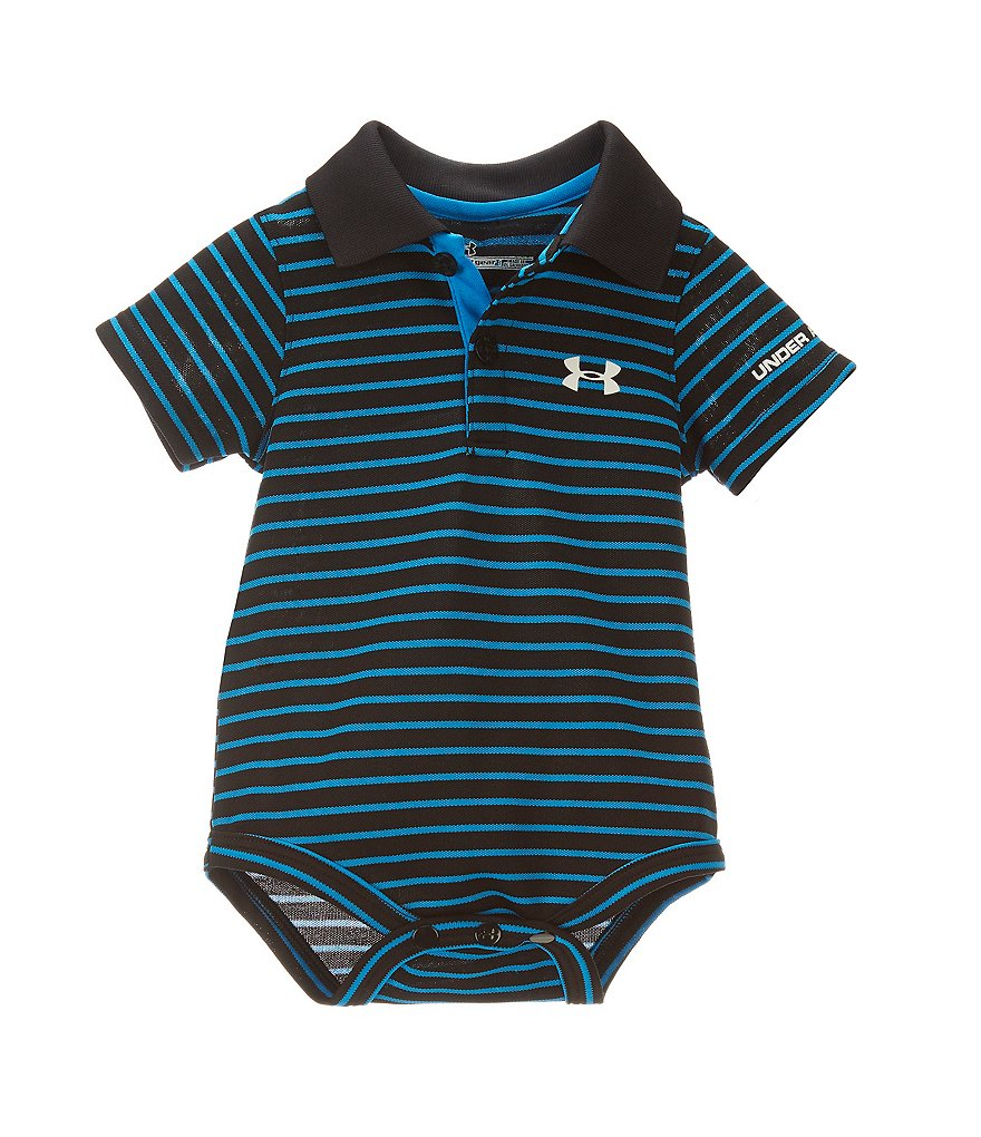 Under Armour Baby Boys Newborn 12 Months Striped Polo