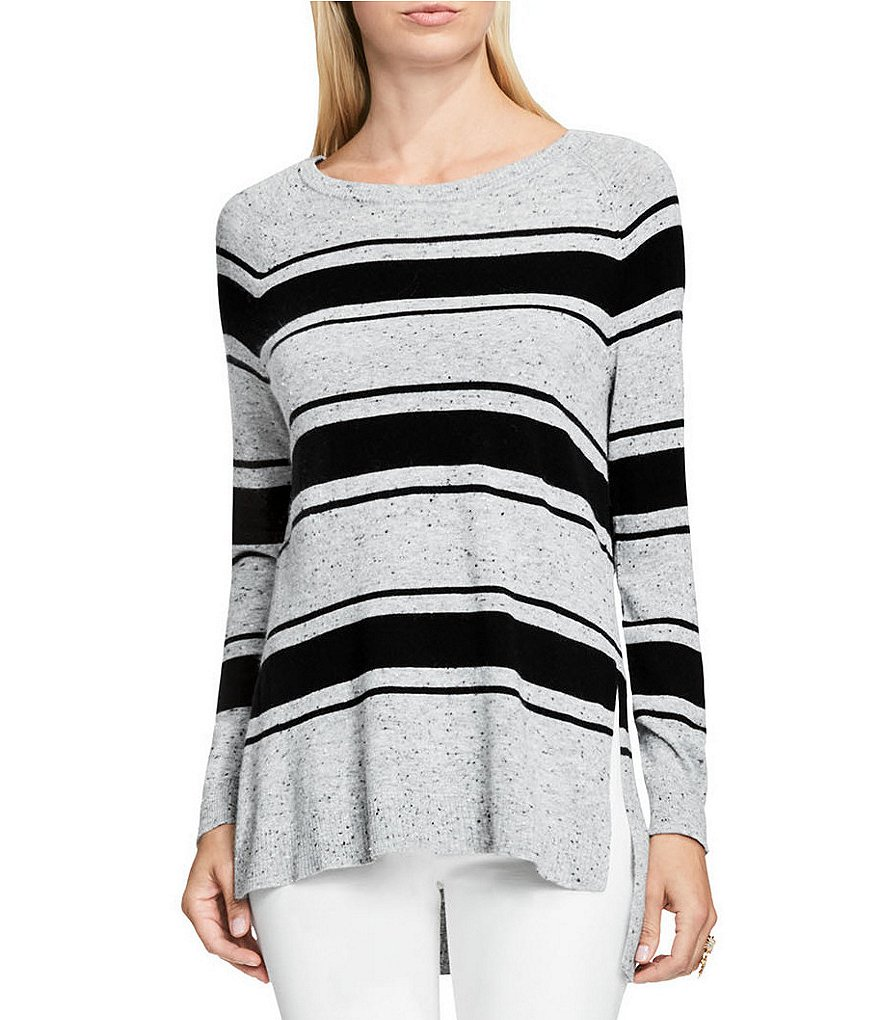 Vince Camuto Long Sleeve Speckled Stripe Sweater