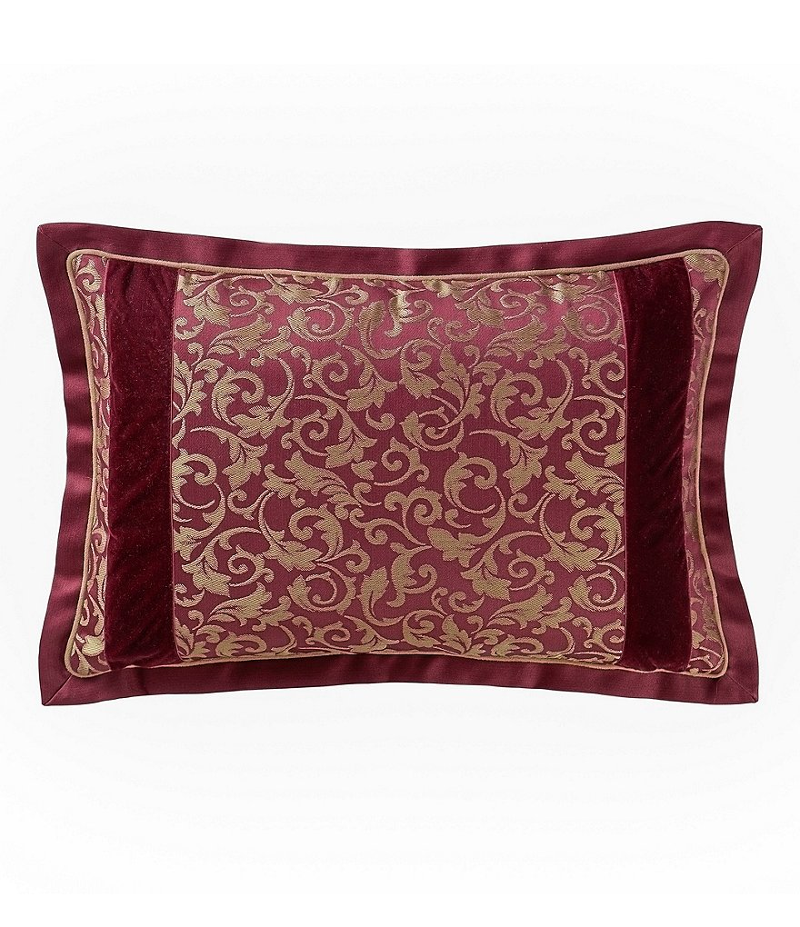 Waterford Athena Velvet & Satin Damask Breakfast Pillow
