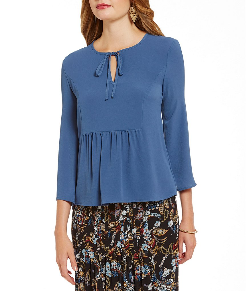 WAYF Long Sleeve Flowy Tombly Swing Blouse