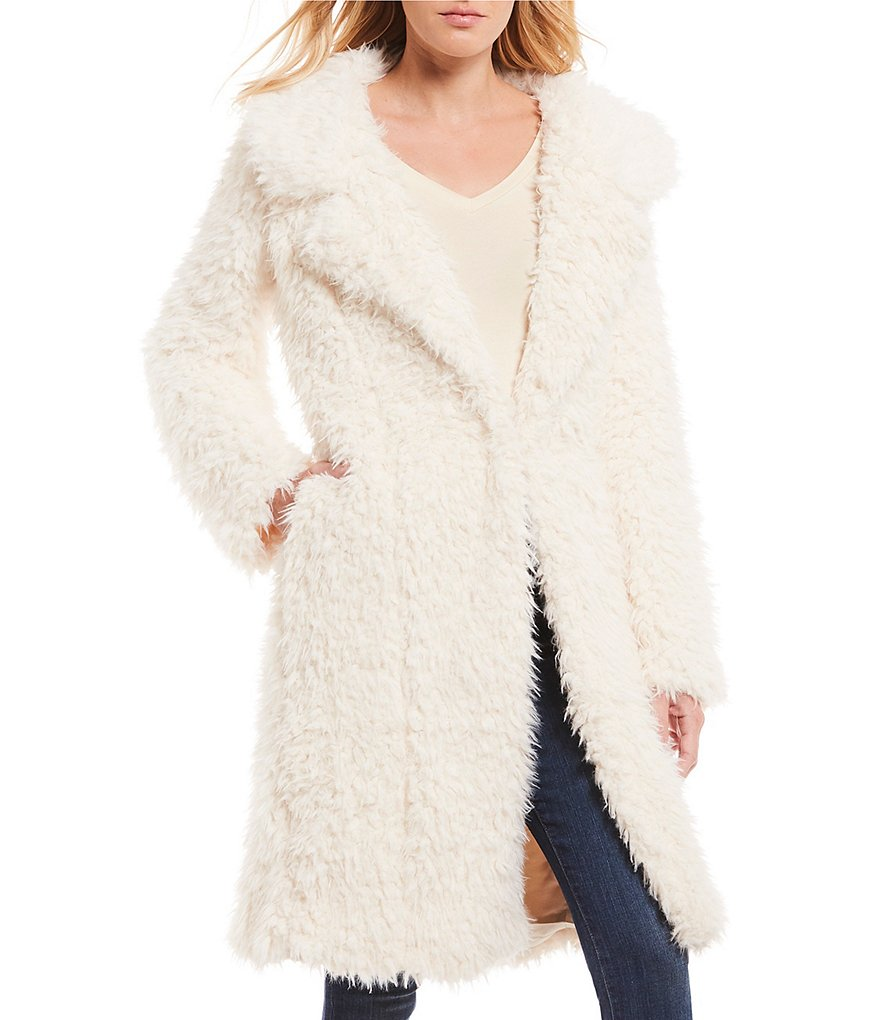 Willow & Clay Long Faux Fur Sherpa Jacket