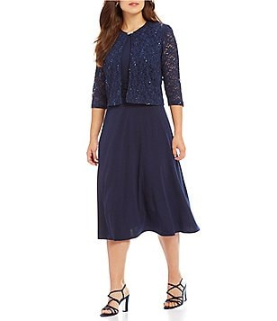 Women\'s Clothing | Plus | Dresses | Jacket Dresses | Dillards.com