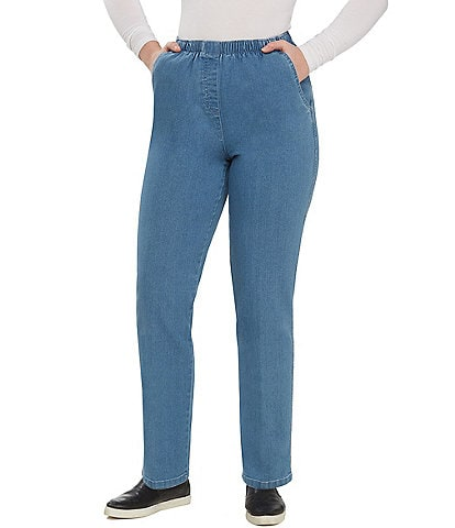 Allison Daley Petite Mock-Fly Pull-On Pants