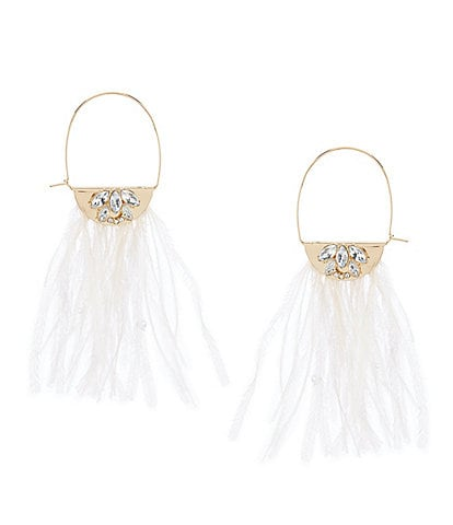 Anna & Ava Feather Hoop Statement Earrings