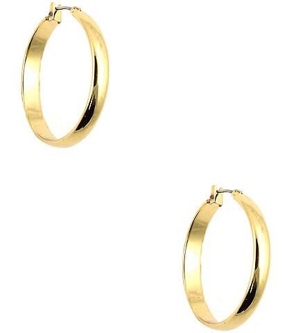 Anne Klein Wide Band Hoop Earrings