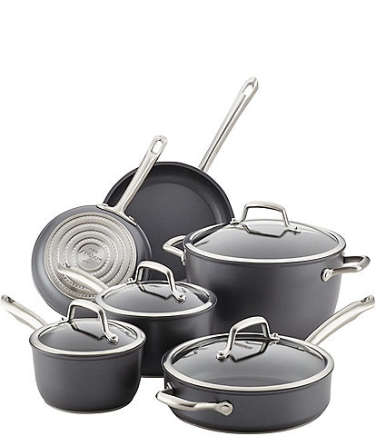 Anolon Accolade Forged Hard-Anodized Precision Forge 10-Piece Cookware Set