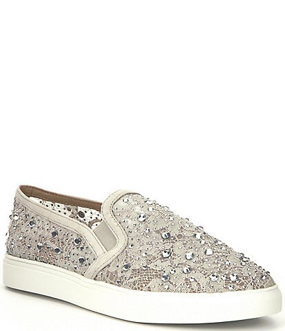 Antonio Melani Garner Lace Rhinestone Embellished Slip-On Sneakers