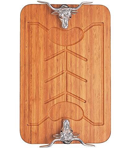 Arthur Court Longhorn Bamboo Carving Board