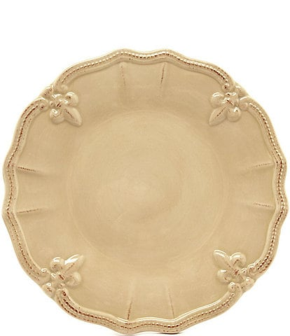 Artimino Beaded Fleur-de-Lis Earthenware Dinner Plate