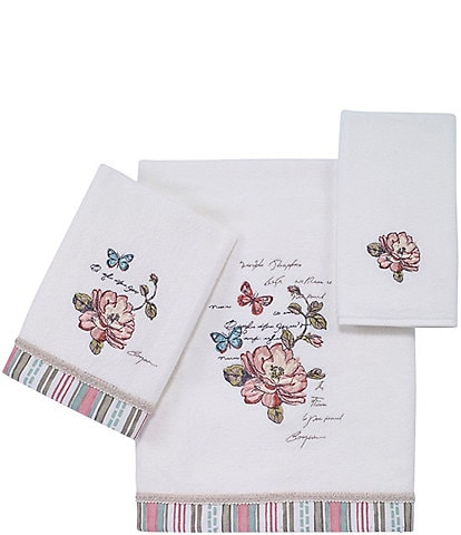 Avanti Linens Butterfly Garden Cotton Bath Towels