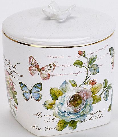 Avanti Linens Butterfly Garden Covered Jar