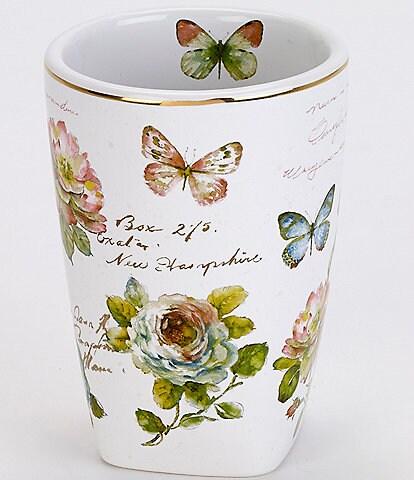 Avanti Linens Butterfly Garden Tumbler