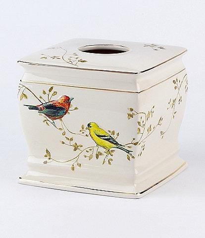 Avanti Linens Gilded Birds Ceramic Tissue Box