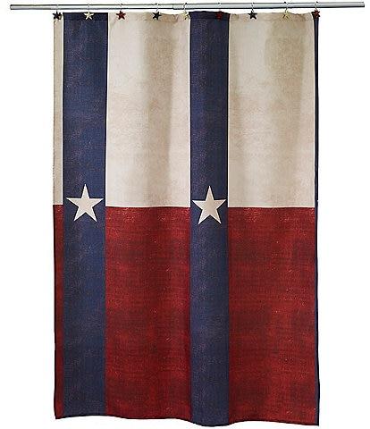 Avanti Linens Texas Star Shower Curtain