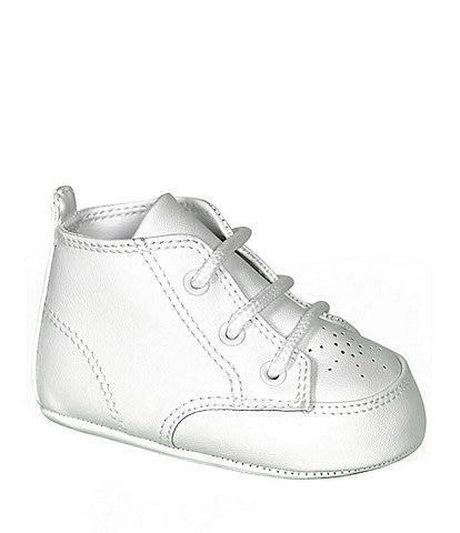 Baby Deer White High-Top Crib Shoes