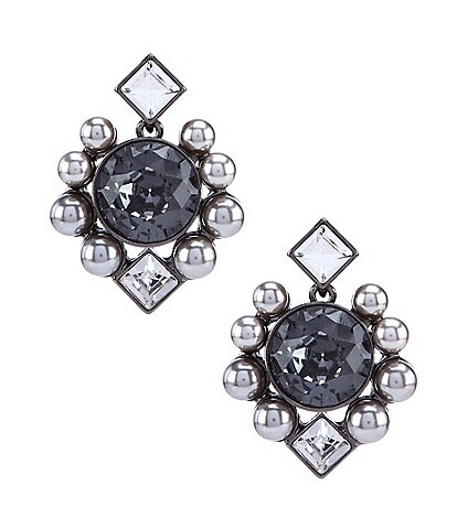 Belle Badgley Mischka Multi Shape Round Stud Earrings