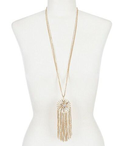 Belle Badgley Mischka Sunburst Pendant Necklace