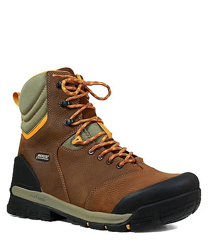 BOGS Men's Bedrock 8#double; Composite Toe Waterproof Leather Work Boot