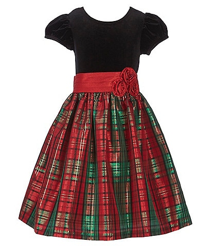 Bonnie Jean Big Girls 7-16 Holiday Plaid Fit-And-Flare Dress