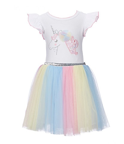 Bonnie Jean Little Girls 2T-6X Unicorn Ballerina Dress