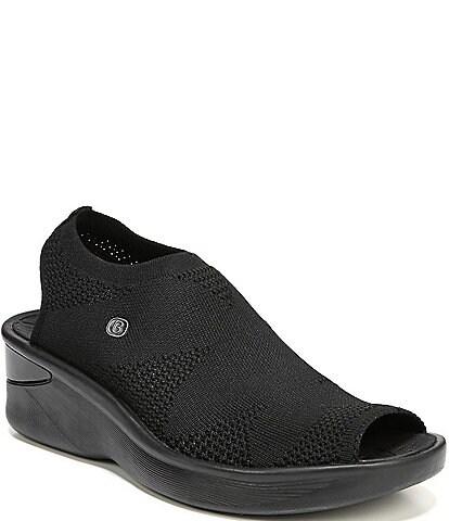 Bzees Secret Peep-Toe Fabric Sandals