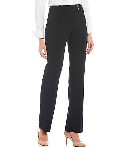 Calvin Klein Curvy Straight-Leg Pants