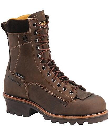Carolina Men's Birch 8#double; Waterproof Logger Work Boots