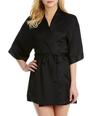 Cassandra Satin Kimono Wrap