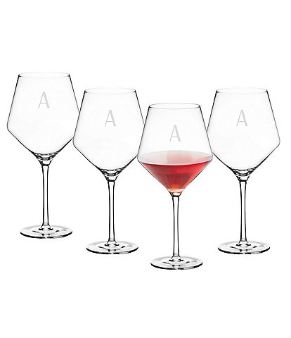 Cathy's Concepts Initial Red Wine Estate Glass Set of 4