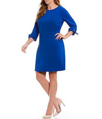 CeCe Plus Size Tie Sleeve Shift Dress