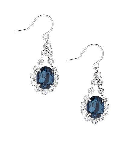 Cezanne Oval Rhinestone Drop Statement Earrings