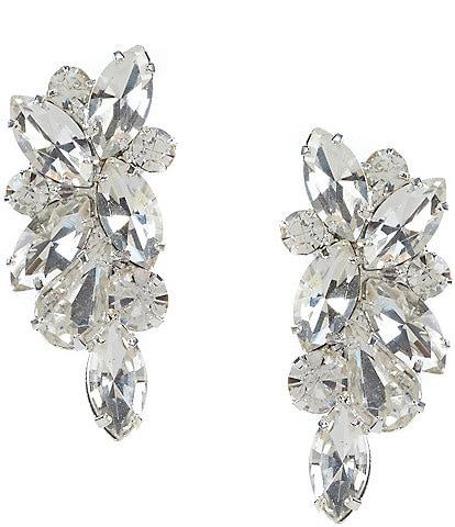 Cezanne Rhinestone Cluster Stud Statement Earrings