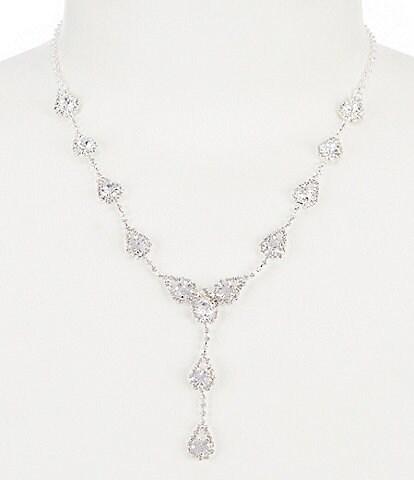 Cezanne Rhinestone Teardrop Y-Necklace