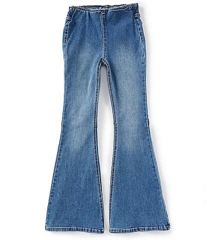 Chelsea & Violet Girls Big Girls 7-16 Flared Pull-On Jeans