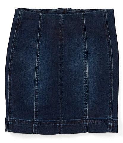 Chelsea & Violet Girls Big Girls 7-16 Seamed Denim Mini Skirt