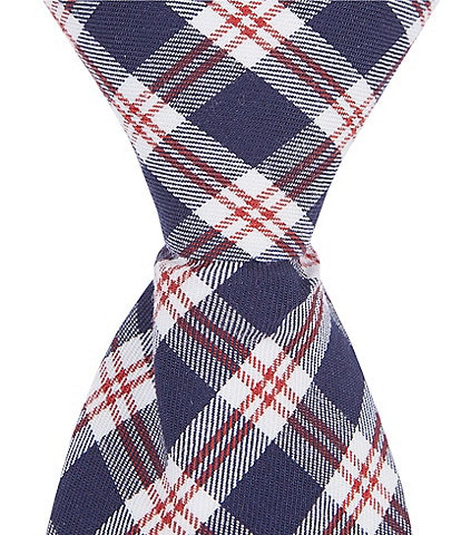 Class Club Gold Label Boys 14#double; Navy Red Plaid Tie