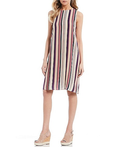 Coco + Jaimeson Sleeveless Striped Swing Dress