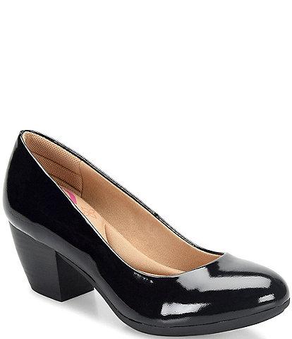 Comfortiva Amora Patent Leather Block Heel Pumps
