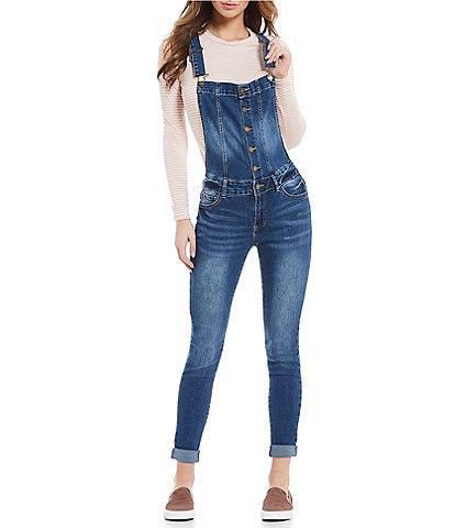Copper Key Denim Skinny Overalls