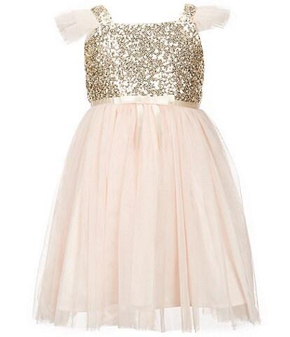 Popatu Little Girls 2-8 Sequin Tulle Dress