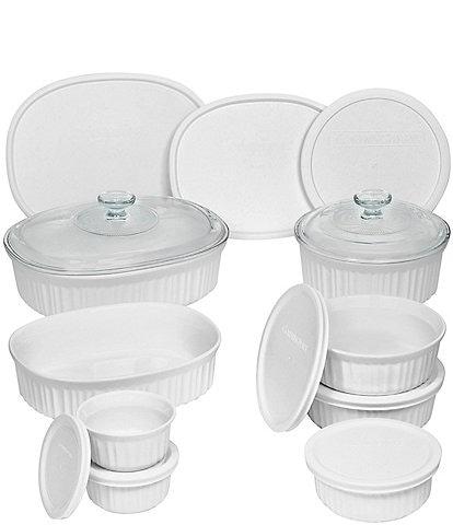 CorningWare French White 18-Piece Bakeware Set