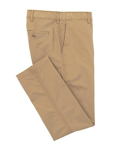 Cremieux Soho Slim-Fit Flat-Front Twill Stretch Casual Pants